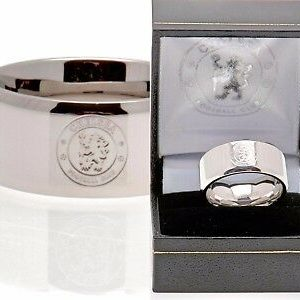 Chelsea F.C Colour Ring Leather Stainless Steel Magnetic Bracelet CFC Gift Box