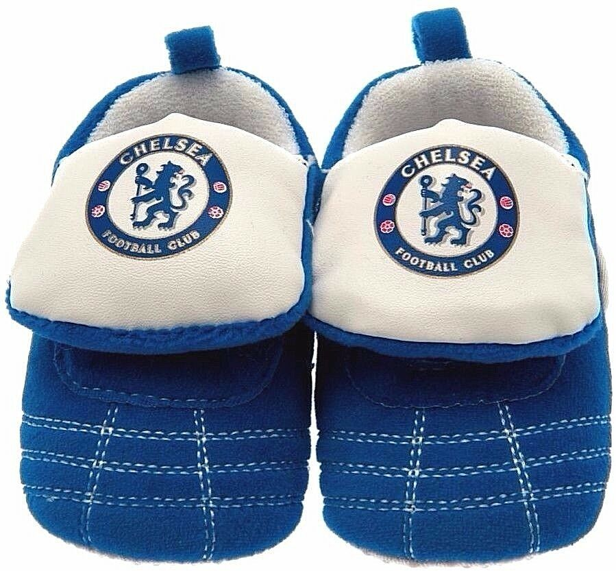 CHELSEA FC CHILDRENS KIDS JUNIOR FOOTBALL BOOT SLIP ON SLIPPERS CFC BLUES