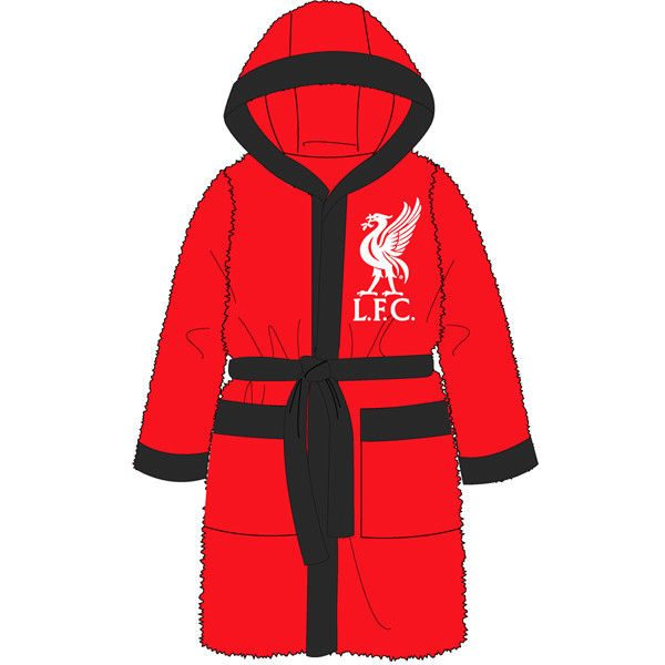 Boys Official Liverpool Football Club Fleece Hooded All in One Age 3-12 Years